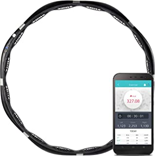 VHOOP: Smart Weighted Fitness Hoop Customizable Workout Fat Burning Weight Loss Exercise Detachable, Weights Adjustable, Hoop Weight 3.7lbs