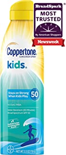 Coppertone KIDS Sunscreen Continuous Spray SPF 50 (5.5 Ounce) (Packaging may vary)