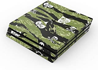 SOFLETE Tiger Stripe Camo Full Faceplates Skin Decal Wrap with 2 Piece Lightbar Decals for Playstation 4 Pro