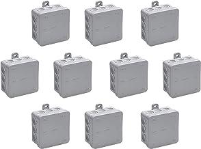 Meister 7463040 verdeeldoos opbouw, 85 x 85 x 37 mm, 10 stuks, 12 kabelgeleiders, spatwaterdicht