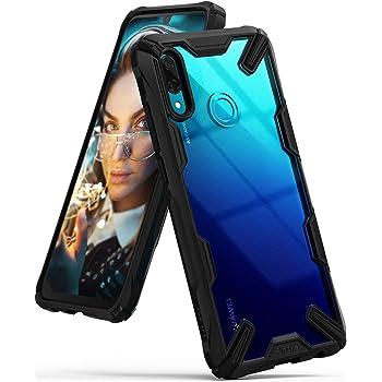 【Ringke】HUAWEI nova lite 3 ケース/Huawei P Smart ケース (2019) 対応 コスパ最高 ストラップホール 落下衝撃吸収 [米軍MIL規格取得] TPU PC 2重構造 スマホケース 吸収耐衝撃カバー 背面クリア Qi ワイヤレス充電対応 Fusion-X (Black/ブラック) nova lite 3 ケース/P Smart ケース