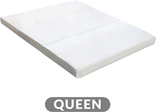 Milliard Tri Folding Mattress With Washable Cover Queen 78 Inches X 58 Inches X 4 Inches