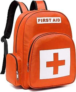 کوله پشتی طبی خالی کیف های کمک اول Gatycallaty برای کیف های اورژانسی پاسخ دهنده اولین درمان تروما با 13 جیب برای مدرسه پیاده روی در فضای باز مسافرت های مسافرتی کمپینگ مراقبت روزانه