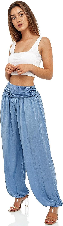 imprim/é imprim/é Pantalon d/ét/é l/éger pour femme pantalon Aladin sarouel sarouel style baggy avec taille /élastique sarouel pantalon de yoga pantalon long sarouel