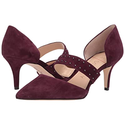 SOLE / SOCIETY Drisela (Dark Plum Kid Suede) High Heels