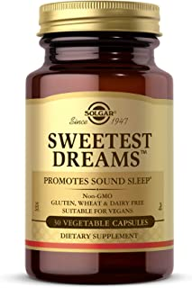 Solgar Sweetest Dreams, 30 Vegetable Capsules - Promotes Sound Sleep - Non-Habit Forming - Provides L-Theanine & Melatonin...