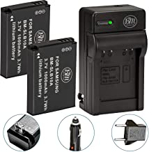 BM Premium Pack of 2 SLB-10A Batteries and Battery Charger for Samsung EX2F HZ15W SL202 SL420 SL620 SL820 WB150F WB250F WB...