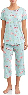 RV Camping Aqua Cloud 2 Piece Knit Pajama Sleep Set