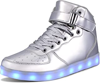 WONZOM LED Light Up Shoes USB Flashing Sneakers for Toddler/Kids Boots