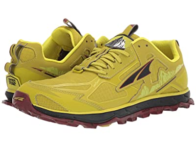 Altra Footwear Lone Peak 4.5 (Lime/Red) Men
