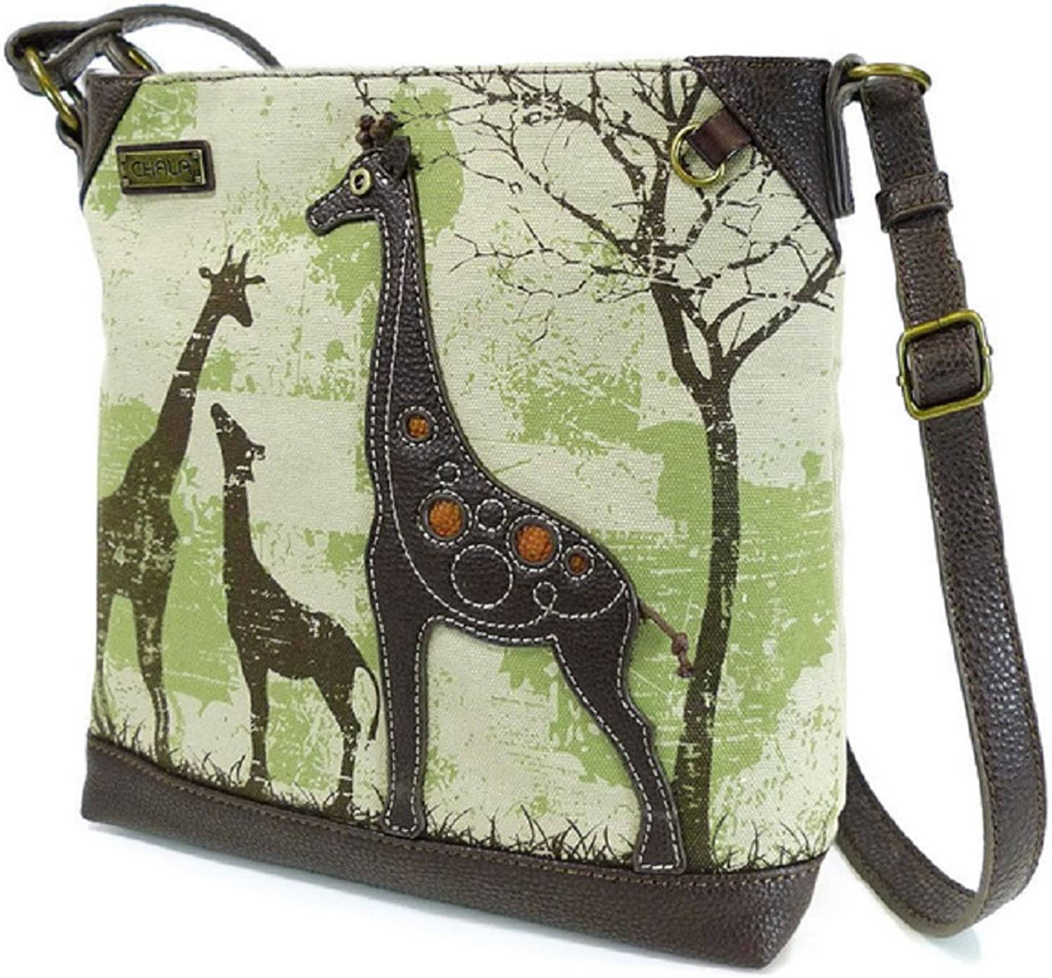Chala Safari Canvas Crossbody  Giraffe