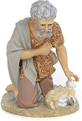 Holyart Nativity Figurine Shepherd Offering Lamb 40cm Fine Decoration Home Kitchen