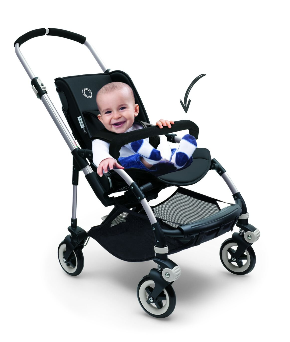 Bar That Fits the Bugaboo Bee, Bee Plus, Bee 3 & Bee 5. (Front Facing Only As Seen in Photo)