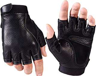 Driving Gloves Men,Fingerless Gloves for Cycling Motorcycle, Workout Gloves