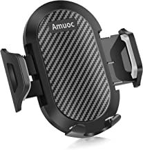 Amuoc Universal Smartphone Car Air Vent Mount Holder Cradle Compatible with iPhone Xs XS Max XR X 8 8+ 7 7+ SE 6s 6+ 6 5s 4 Samsung and All Smartphones (Black) (Black)