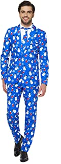 Christmas Suits for Men in Different Prints – Ugly Xmas Sweater Costumes Include Jacket Pants & Tie