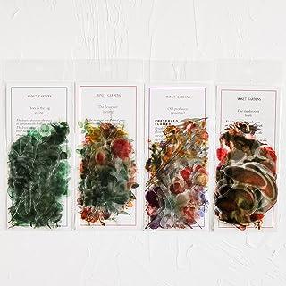 Knaid Flower Eucalyptus Plant Stickers Set (160 Pieces) - PET Transparent Waterproof Decorative Decals for Scrapbook DIY C...