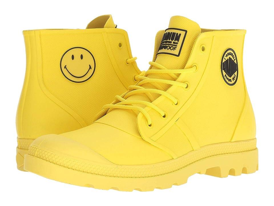 Palladium Pampa Smiley Rain Waterproof (Blazing Yellow) Lace up casual Shoes