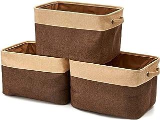 ZQJKL Grand Boîte À Cubes De Rangement Panier De Rangement avec Poignées Organisateur Pliable pour Jouets Livres Closet Bu...