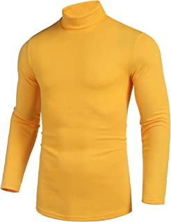 Pacinoble Men's Turtleneck Shirts Turtleneck Pullover Sweater Casual Long Sleeve Slim Fit Basic Knitted Thermal Tops