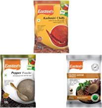 Eastern Black Pepper Powder(100 g), Super Garam Masala(200 g), Kashmiri Chilly Powder(250 g) (Pack of 3), Total 550 Grams