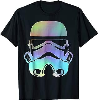 Star Wars Storm Trooper Neon Rainbow Graphic T-Shirt