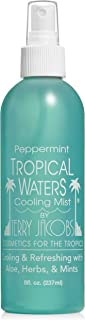 Tropical Waters Peppermint Cooling Spray Mist, Long Lasting, Hydrating, Moisture Mist, Full Body Cool Down Spray, Aloe, Herbs, Mints (Peppermint) 8oz
