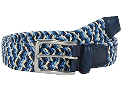 Torino Leather Co. 35 mm Italian Woven Cotton (Navy/Blue/Cream) Men