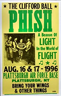 Phish in Concert, Plattsburgh Air Force Base, August 1996 Poster