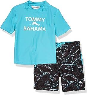 ست لباس شنا Rashguard and Trunks Boys Boys Tommy Bahama