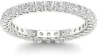 IGI Certified 14k Gold 1ct TDW Diamond Eternity Wedding Band (H-I, I2)