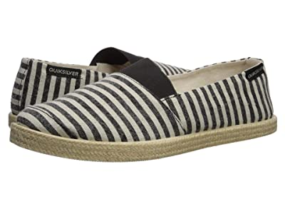 Quiksilver Espadrilled (Black/Black/Brown) Men