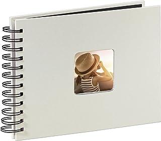 Hama Fine Art Fotos (50 páginas Negras, álbum con Espiral, 24 x 17 cm, Compartimento para Insertar Foto), Papel, Tiza