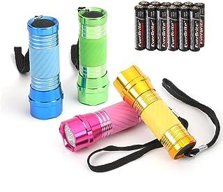 EverBrite 4-tlg. Mini LED Handlampe, LED Camping Handlampe nachtleuchtenden Taschenlampe für Camping, Radfahren, Klettern und andere Outdoor-Aktivitäten