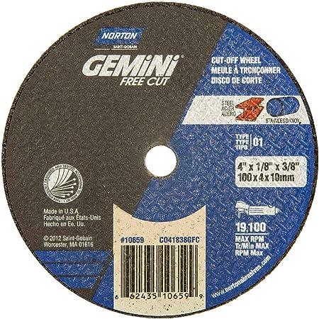 "25 new NORTON 4/"" x 1//16/"" x 1//4/"" gemini Free Cut Off 01 Cutting Wheel Discs 10654"
