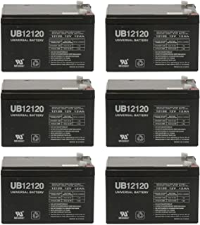 Universal Power Group 12V 12Ah F2 Battery SEA-DOO SEA Scooter 12V GTI EXT. Battery EA. - 6 Pack
