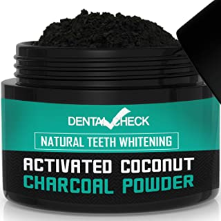 Dental Check Active Charcoal Powder for Teeth Whitening | Organic Charcoal Tooth Scrub | Renew Your Smile & Promote Gum Health