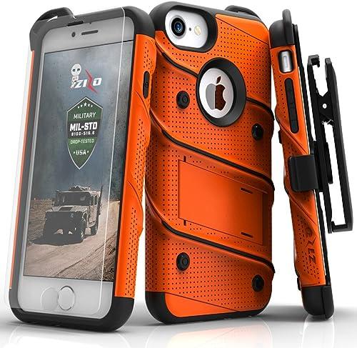 Zizo iPhone 8 Case/iPhone 7 Case [Bolt Series] w/ [iPhone 8 Screen Protector ] Kickstand [12 ft. Military Grade Drop ...