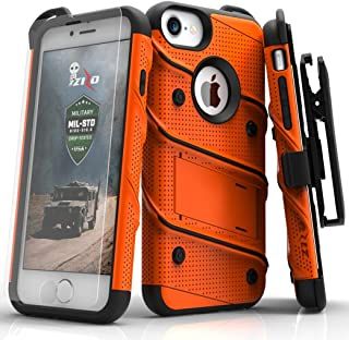 Zizo iPhone 8 Case/iPhone 7 Case [Bolt Series] w/ [iPhone 8 Screen Protector ] Kickstand..