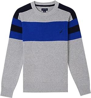 Nautica Boys' Crew Neck Stripe Sweater