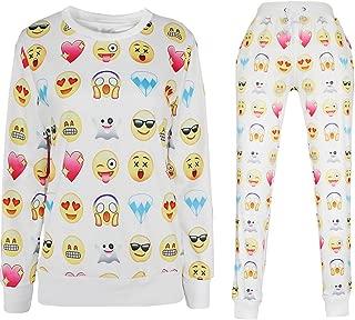 YiYaYo 3D Emoji Activewear Pullover Print Sweatshirt Hoodies Top and Sweatpants