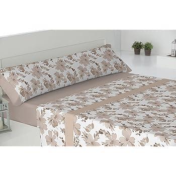 Todomueble Palma Juego de Sábanas cama de 150, 100% Algodón, Beige: Amazon.es: Hogar