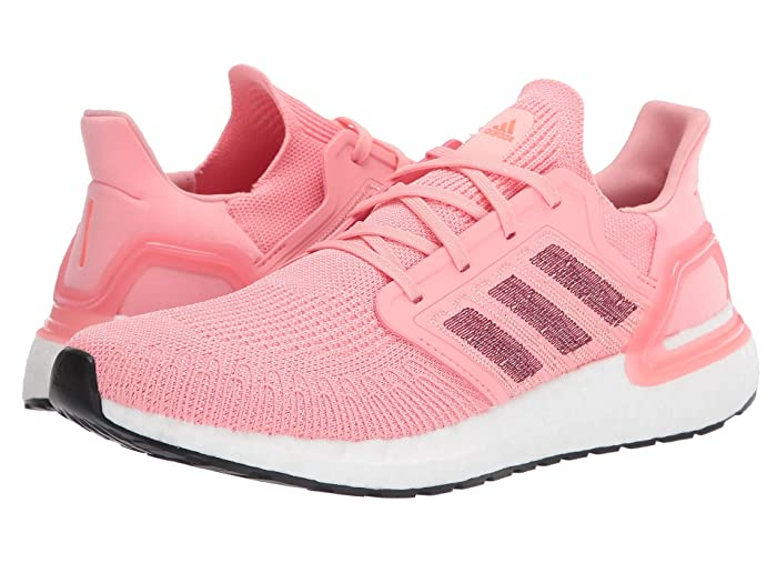 adidas Running  Ultraboost 20 (Glory Pink/Maroon/Signal Coral) Womens Running Shoes