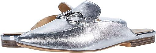Silver Metallic Leather