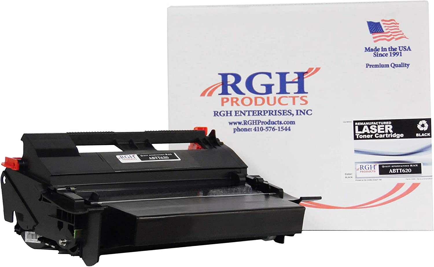 RGH Products(TM) Remanufactured ABTT520 Black Toner Cartridge Tray for use in Lexmark T620/T622/X620/X622, Series Optra Series Printer