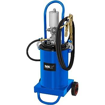 Volumen 20 litros, Presi/ón De Trabajo 6-8 Bar, Presi/ón De La Bomba 300-400 Bar MSW Engrasadora Neum/ática para Taller Pro-G 20