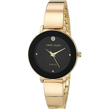 Anne Klein Women's Genuine Diamond Dial Bangle Watch, AK/3566