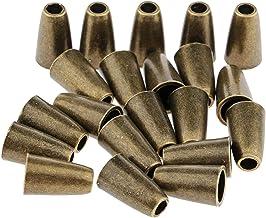 Sharplace 20-pack metallklocka sladd lås kapsyl slut stopp för paracord Sportwear-grå/silver/brons – brons