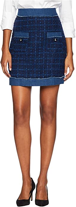 Broome Street Denim Tweed Skirt