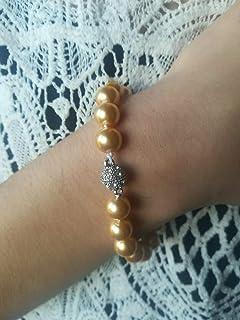 Bracciale Perle South Sea Gold 10mm Chiusura Gioiello